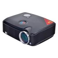 Home Cinema 2500 Lumens Multimedia HD LED Projector 1080P HDMI USB TV DVD Black
