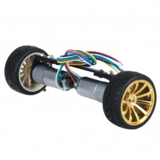 JGA25-26 2WD Car Chassis Self-balancing Car with Metal Gear Motor for RC Models