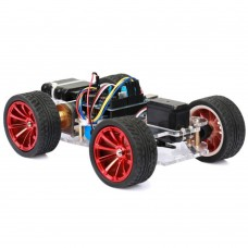 4WD Smart Car Chassis with PM-R3 Multifunction Control Board & PS2 Controller Combo for RC