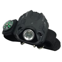 2211 Rechargeable Variable-Output LED Wristlight Tactical Watch LED Flashlight for Outdoor Fishing Hunting