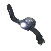 Rechargeable CREE LED Wrist Mechanical Watch Flashlight Outdoor Sports Torch Lamp WristLight with Compass