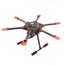 HF750 750mm 6-Axis Carbon Fiber Folding Hexacopter Frame with GF-L1B Landing Gear for FPV Photography