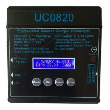 UC8020 DC11V-29V Battery Lipo Digital Balance Charger 1-8S 20A 500W for RC Model