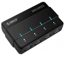 ORICO H4928-U3 Portable Super Speed USB 3.0 4 Ports USB HUB Charger Splitter with Power Adapter for Computer PC