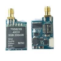 Upgraded TS5823S 5.8G 200mW 40CH Wireless Telemetry Audio Vidio AV Transmitter Tx for FPV Multicopter DJI