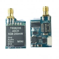 Upgraded TS5823S 5.8G 200mW 40CH Wireless Telemetry Audio Vidio AV Transmitter Tx for FPV Multicopter DJI
