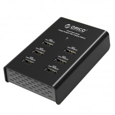 ORICO DUB-6P Portable 2.4A 72W 6 Ports Desktop USB Charger for iphone ipad-Black