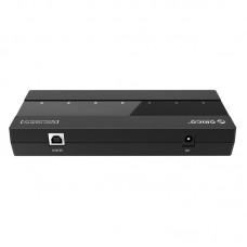 ORICO H727RK-U2 High Speed 7-Port USB 2.0 HUB w/5V 2A Power Adapter Splitter for Laptop PC Notebook Black