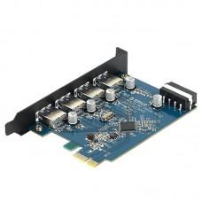 ORICO PVU3-4P High Speed 5Gbps Desktop 4 Port USB3.0 PCI Express Card for Laptop Support Windows Vista