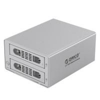 RICO 3529NAS 2-Bay RJ-45 Gigabit External Network Storage USB3.0 6TB Raid NAS 3.5'' HDD Enclosure BT PT Download-Silver