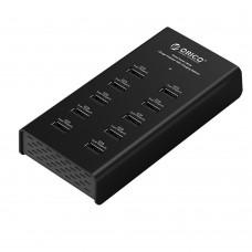 ORICO DUB-10P Portable 10 Ports USB HUB Desktop Charger 2.4Ax10 Outputfor ipad Laptop Tablet PC