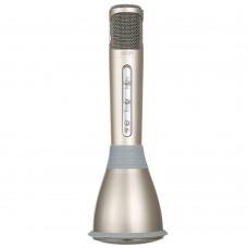 TUXUN K068 Wireless Karaoke Microphone Speaker Bluetooth 3.0 Mobile KTV MIC-Champagne Gold