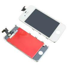 LCD Display Touch Screen Digitizer Assembly with Bezel Frame for Apple iPhone 4 4G Cell Phone White