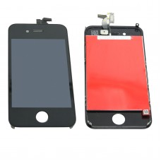 LCD Display Touch Screen Digitizer Assembly with Bezel Frame for Apple iPhone 4 4G Cell Phone Black