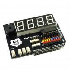 YwRobot Arduino Digit Shield V2 Module Four Bit Digital Tube Display Expansion Board for DIY