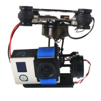 FPV 3 Axis CNC Metal Brushless Gimbal PTZ with Controller for DJI Phantom GoPro 3 4 Camera