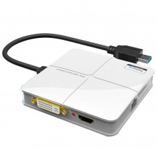 USB3.0 Multi Screen External Graphics Card USB to DVI HDMI HDTV RJ45 Gigabit Ehternet Adapter