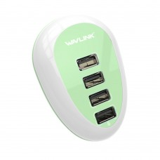 Portable Smart 4 Ports Adapter 5V 2A USB Wall Charger for Travel Phones iPhone iPad