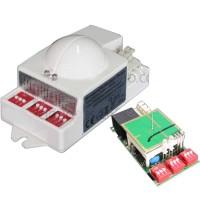 TCZ9800 5.8GHz AC220V Microwave Motion Detector Radar Sensor Switch w/Photosensitive Function for LED Light