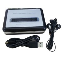 USB Cassette Player Tape to PC Super Portable USB Capture Cassette-to-MP3 Converter Audio Music Player