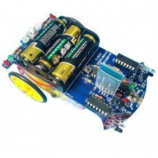 51 SCM Smart Car Infared Obstacle Avoidance Tracking Vehicle Car Kit for DIY Robot