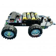 C51 SCM Smart Car Development Board Tracking Obstacle Avoidance Car Kit for DIY Robot