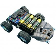 C51 SCM Smart Car Development Board Tracking Obstacle Avoidance Car Kit w/USB Downloader for DIY Robot