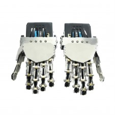 Humanoid Finger Manipulator Five Fingers Anthropomorphic Left Hand +Right Hand with Servo for Biped Robot DIY