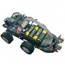 ZY08-C-G Smart Car Multifunctional Ultrasonic Infrared Obstacle Avoidance Vehicle Light Seeking Car Kit for DIY Robot
