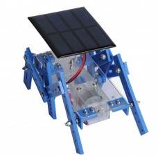 Unassembled DIY Solar Panels Six Feet Robot Hexapod Robotic Toy Spare Parts