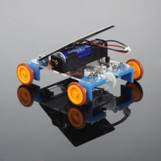Unassembled Solar Power Battery Hybrid Power 4 Wheels Vehicle Mini Car Spare Parts for DIY