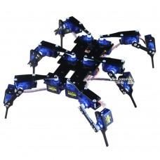 Six Feet Robot 6-Legged 18DOF Hexapod4 RC Mini Spider Robot Frame with 18 Servos