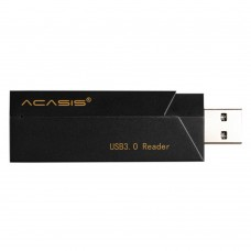 Acasis IS001 Universal Multinational High-Speed USB3.0 Multi-Card Reader 3.0 SD TF Card Reader Black