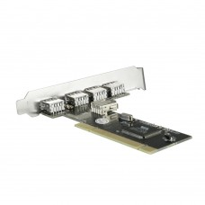 Acasis SKD-5 5 Ports USB 2.0 Expansion PCI Card Controller Adapter Chip VIA for Desktop Computer