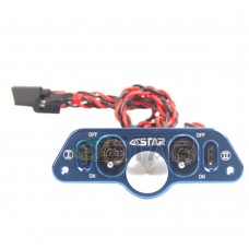 6STARHOBBY Heavy Duty Metal Dual Power Switch with Dual Fuel Dots for RC Airplane Upgraded from ST1007