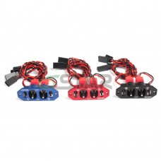 6STARHOBBY Heavy Duty Aluminum Dual Power Switch without Fuel Dot for RC Airplane Upgraded from ST1004