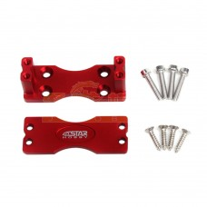 6STARHOBBY CNC Aluminum Alloy Side Servo Mount Servo Holder for RC Model Aircraft-Red