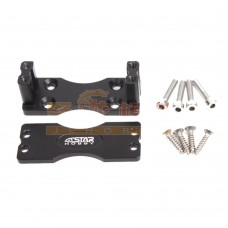 6STARHOBBY CNC Aluminum Alloy Side Servo Mount Servo Holder for RC Model Aircraft-Black