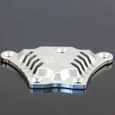 FID Front Upper Chassis Brace Fixed Plate for LOSI 5IVE-T LOSI M Car DIY-Silver