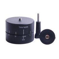 60 Minutes 360 Degrees Panning Stabilizer Rotating Tripod Adapter Time Lapse for Gopro XiaoMi Yi Hero 4 3+ DSLR Phone
