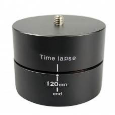 "120 Minutes New 1/4"" 360 Degrees Panning Rotating Time Lapse Stabilizer Tripod Adapter for Gopro DSLR Digital Camera"