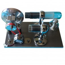 Aluminum Base Enhanced Hot Air Stirling Engine Model Motor Generator for Toy DIY