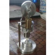 New Hot Air Stirling Engine Model Generator Motor Improved with Alcohol Burner Holder Vertical Stirling Engine