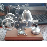 Educational Mechanical Toy Hot Air Stirling Engine Model Generator Balance Type for DIY
