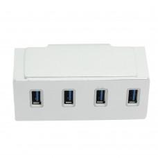 USB3.0 4 Ports Aluminum HUB Aluminum Clamp Adapter Splitter for Mac Pro iMac Laptop PC Computer