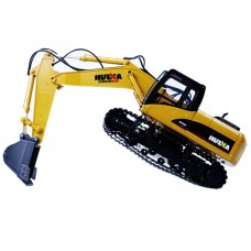 HuiNa Toy 550 15 Channel 2.4G Alloy Excavator Charging RC Car Digger Engineering Vehicle