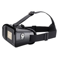 """VR Virtual Reality Glasses 3D Video Glasses for 3.5-6.0"""" Phone Google Cardboard with Bluetooth Controller-Black"""