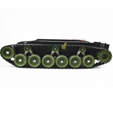 Shock-Absorbing Toy Tank Robot Chassis Smart Track Caterpillar Tractor for Video Car DIY-Green