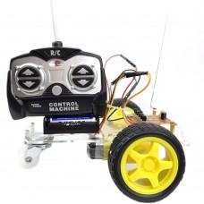 Unassembled 4 Channels Remote Control Robotic Car Kit Racing Model for DIY