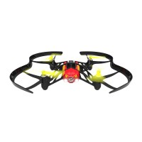 Parrot Airborne Night Drone 4-Axis Quadcopter Minidrone with Dual LED Headlight for FPV-Red